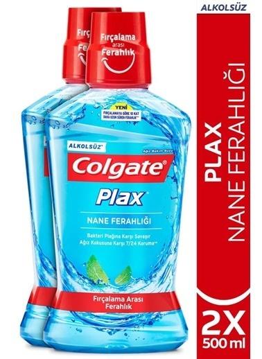Colgate Colgate Plnane Ferahlığı Plağa Karşı Alkolsüz Ağız Bakım Suyu 2 X 500 Ml Renksiz